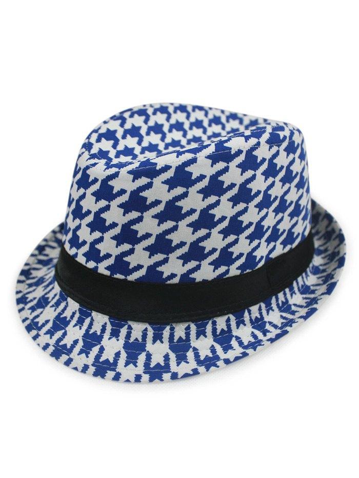 Houndstooth Fedora Hat