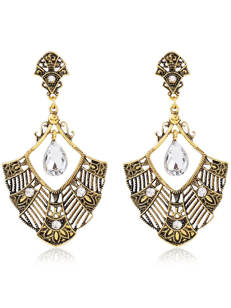 Rhinestone Hollowed Statement Earrings