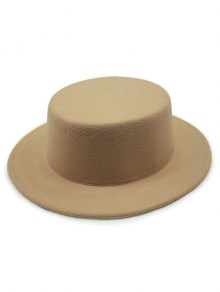 Flat Top Felt Fedora Hat