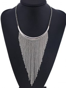 Long Chain Fringe Necklace