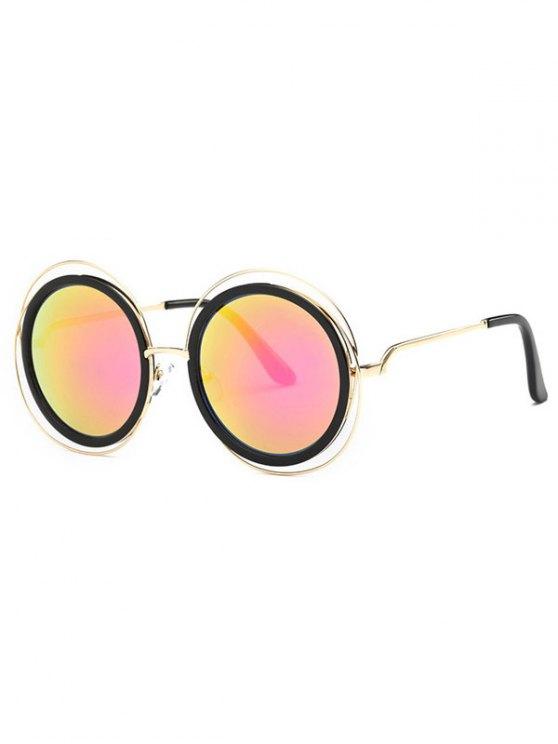 Cortar hacia fuera etiqueta espejo gafas de sol - Rojo