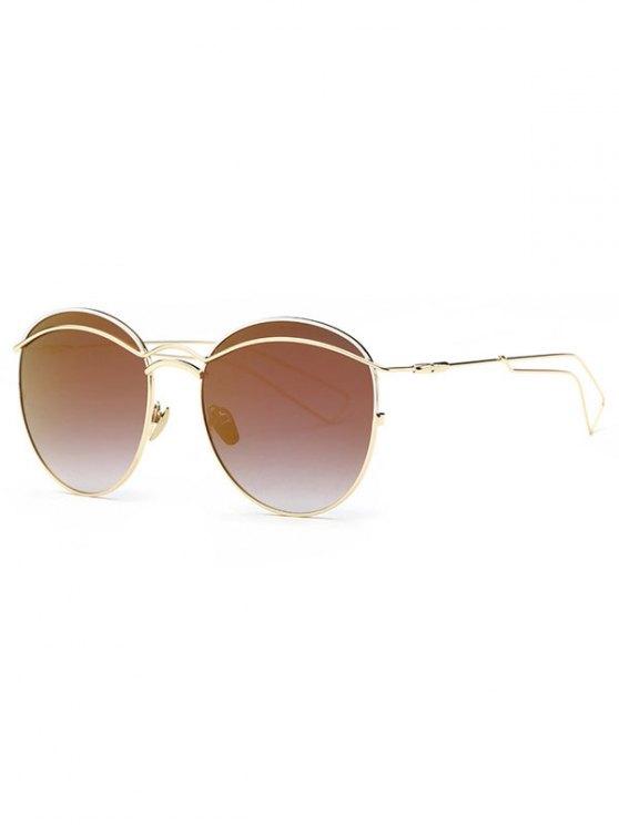 Travesaño metálico espejo gafas de sol - Café