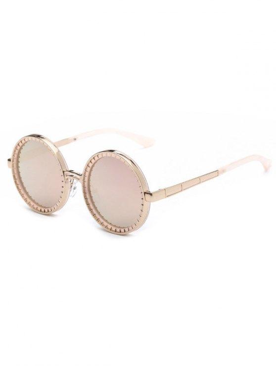 Espejo gafas de sol redondas de la vendimia - Rosa