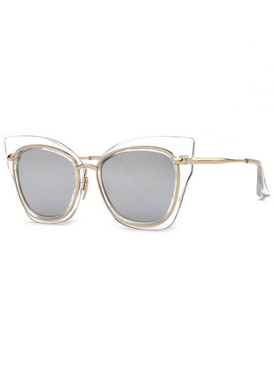 Gafas de sol del ojo de gato con espejo - Plata