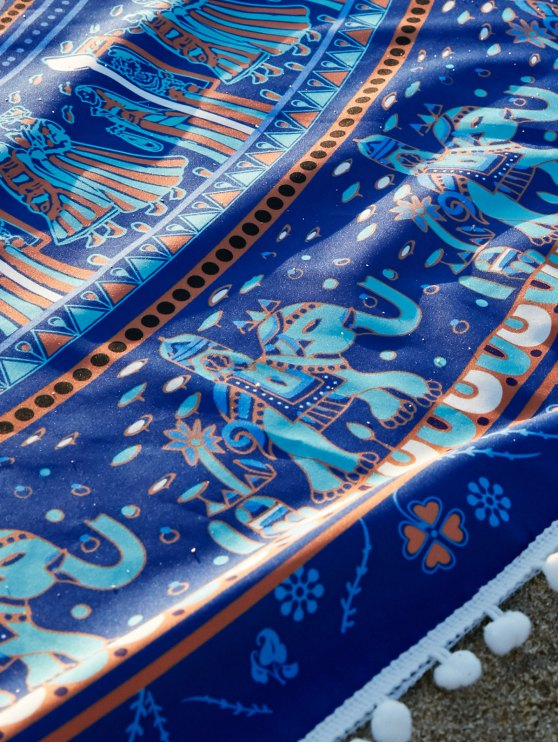 Ethnic Printed Beach Throw - BLUE ONE SIZE(FIT SIZE XS TO M) Mobile