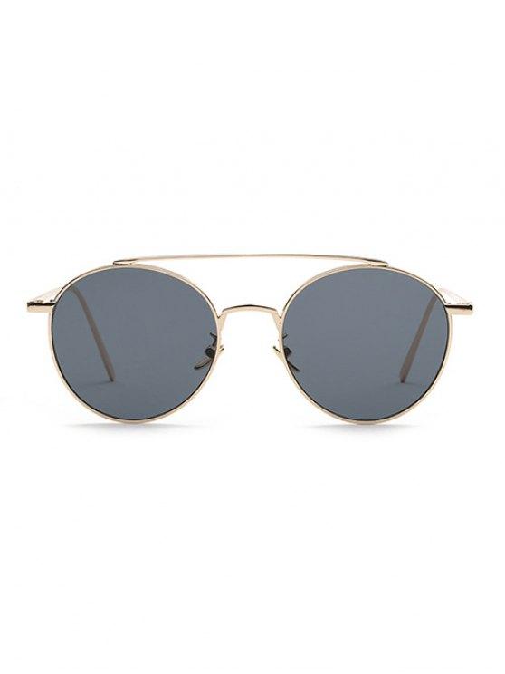 Metal Frame Pilot Sunglasses - GRAY  Mobile