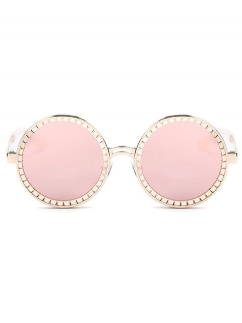 shop Vintage Round Mirrored Sunglasses - PINK  Mobile