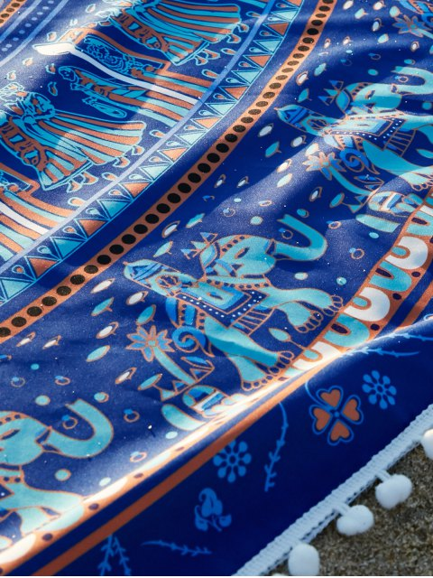 ladies Ethnic Printed Beach Throw - BLUE ONE SIZE(FIT SIZE XS TO M) Mobile