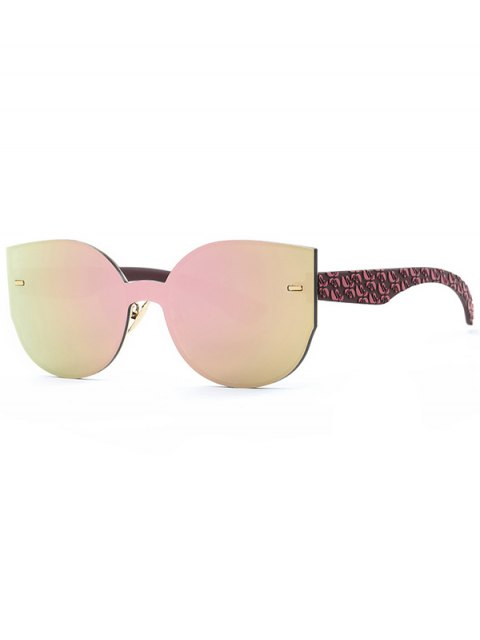 shops Outdoor Oversized Mirrored Sunglasses - PINK  Mobile