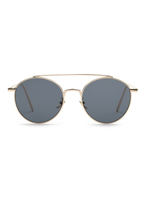 affordable Metal Frame Pilot Sunglasses - GRAY  Mobile