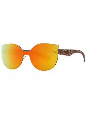 Outdoor Oversized Mirrored Sunglasses - Orange