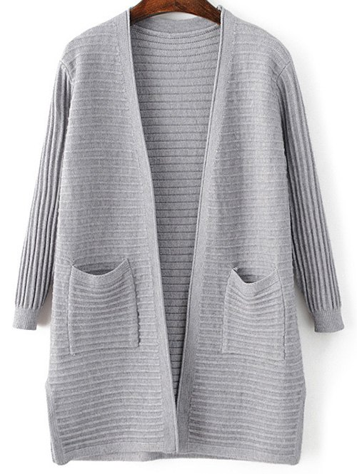 Pockets Solid Color Long Sleeve Cardigan 190011603