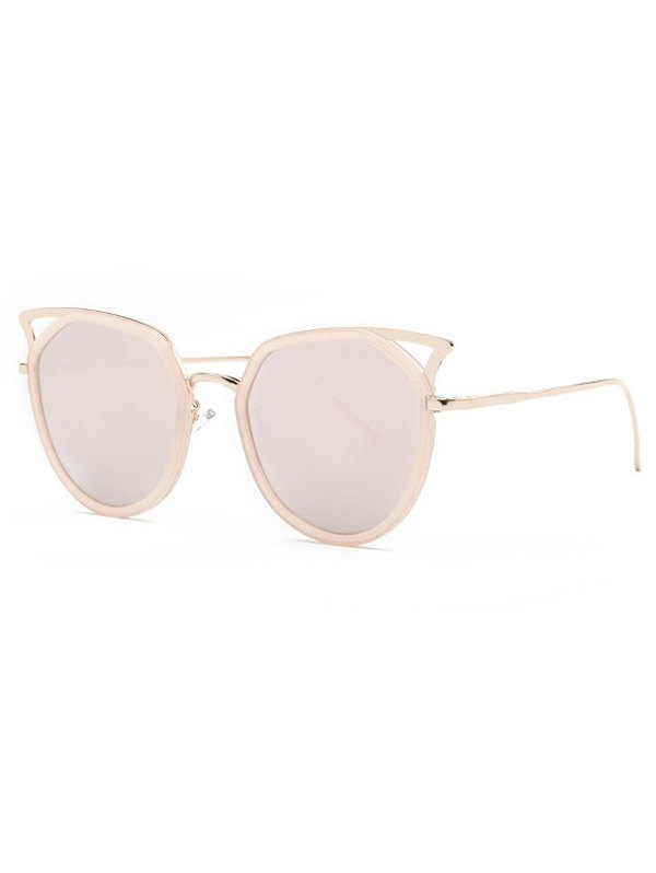 Vintage Cut Out Cat Eye Mirrored Sunglasses