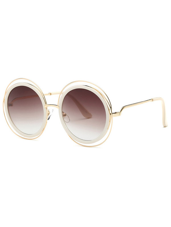 Cut Out Round Sunglasses