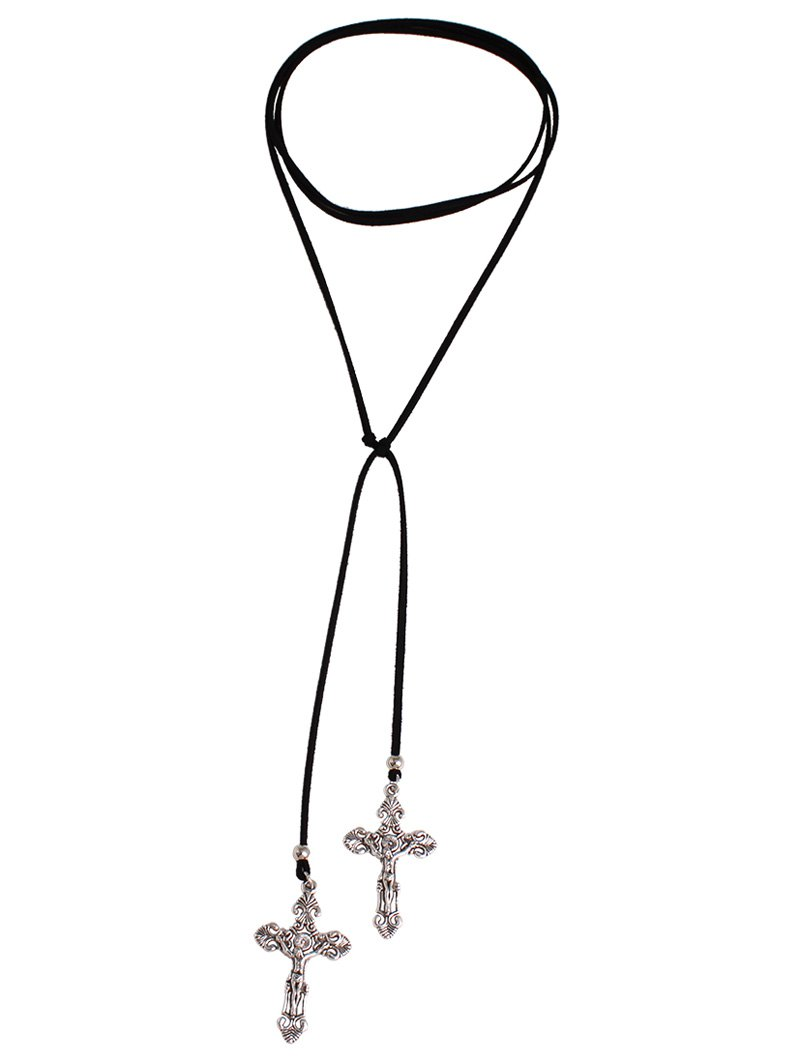 Cross Adjustable Choker Necklace