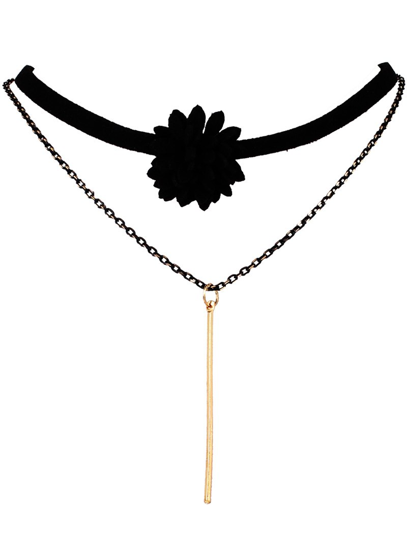 Flower Bar Layered Choker
