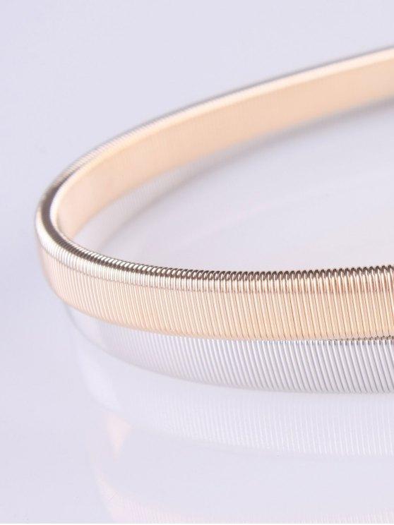 Leaf Elastic Waist Belt - GOLDEN  Mobile