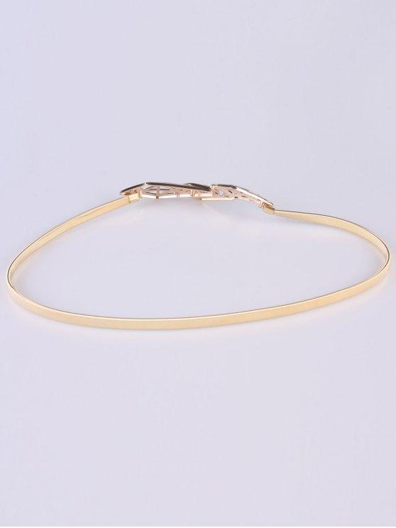 Cut Out Geometry Elastic Waist Belt - GOLDEN  Mobile