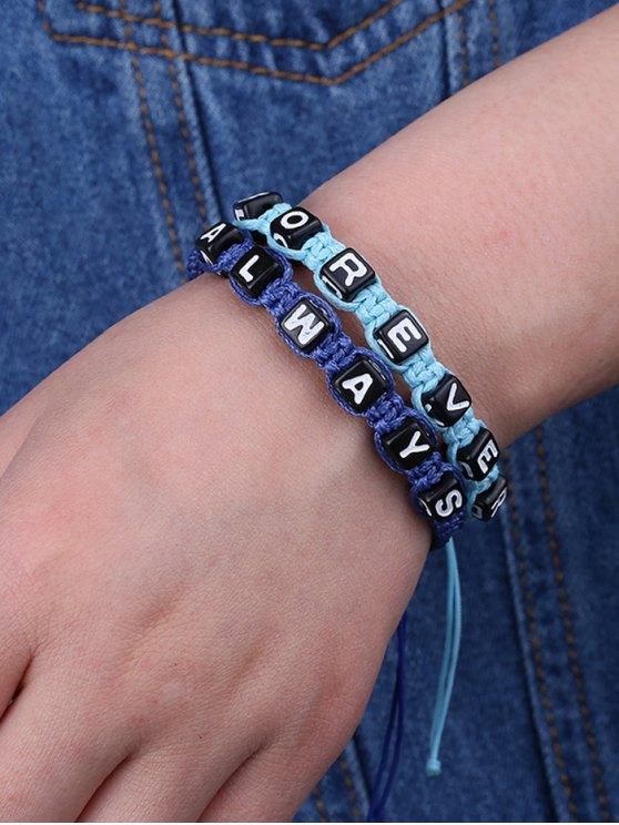 Letters Always Forever Woven Bracelets - SAPPHIRE BLUE  Mobile