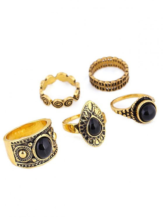 lady Water Drop Rings - GOLDEN ONE-SIZE
