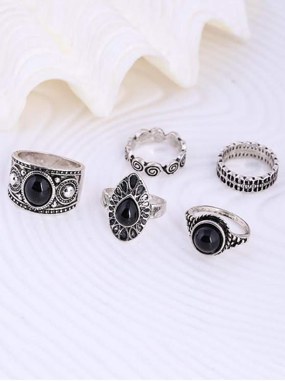 Water Drop Rings - SILVER ONE-SIZE Mobile