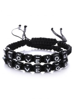 Letters I Love You Bracelets - Black