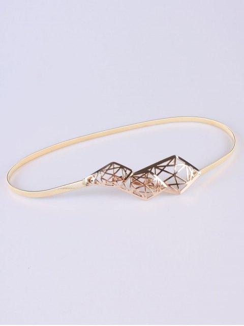 affordable Cut Out Geometry Elastic Waist Belt - GOLDEN  Mobile