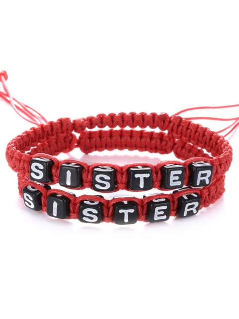 outfits Letters Sister Woven Bracelets -   Mobile