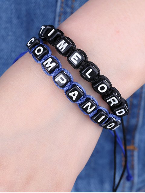 fashion Letters Time lord Companion Bracelets - BLUE AND BLACK  Mobile