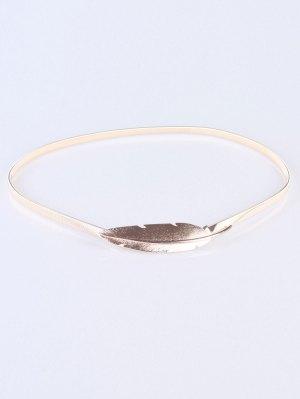 Feather Elastic Waist Belt - Golden