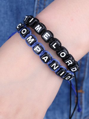 Letters Time Lord Companion Bracelets - Blue And Black