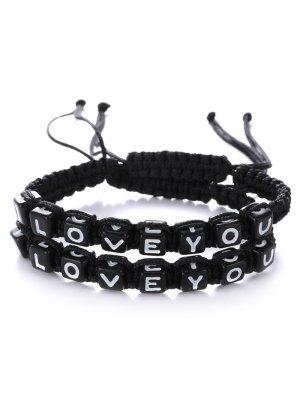 Lettres I Love You Bracelets