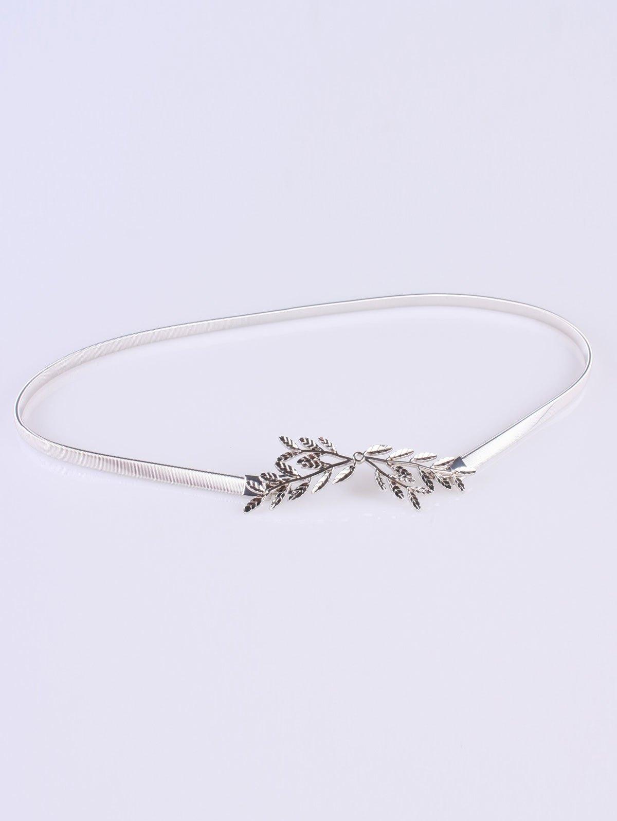 Chic Small Leaf Branch Elastic Waist Belt