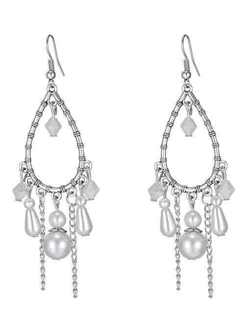 Faux Pearl Water Drop Earrings