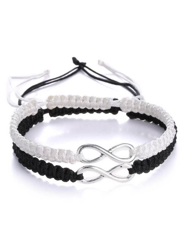Hollowed Infinity Woven Bracelets