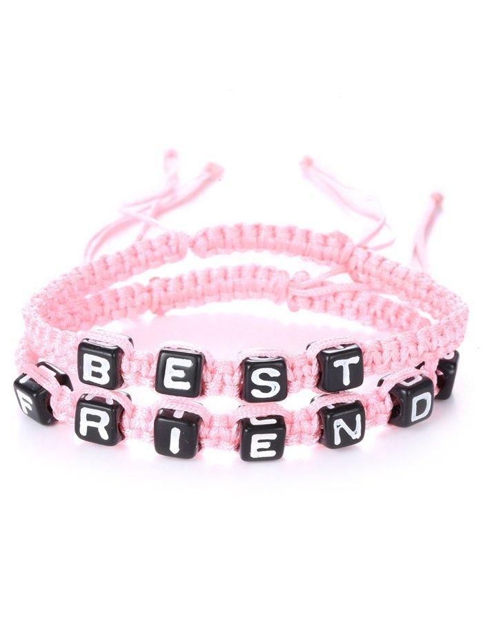 Delicate Letters Best Friend Woven Bracelets