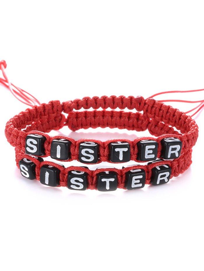 Delicate Letters Sister Woven Bracelets