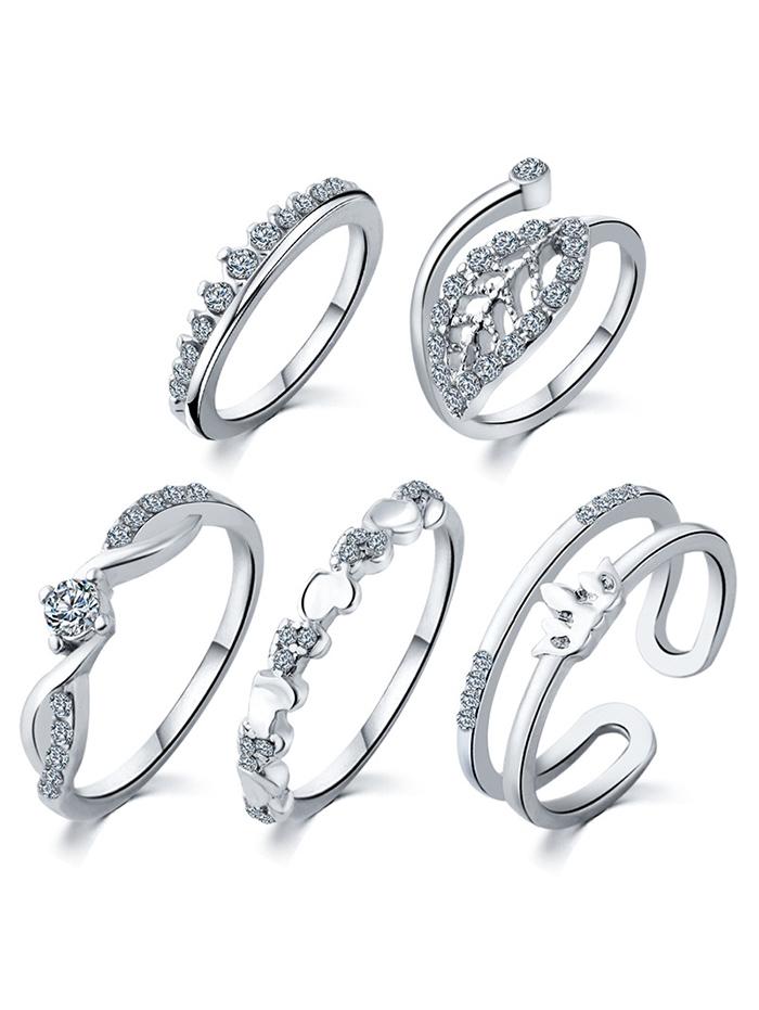 Stunning Crown Wedding Jewelry Rings