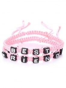 Letters Best Friend Woven Bracelets