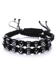 Letters I Love You Bracelets - Black