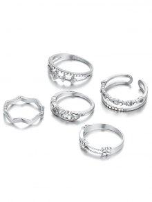 Rhinestone Heart Rings