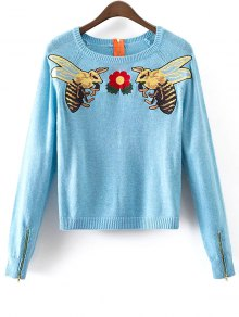 Honey Bee Embroidered Sweater