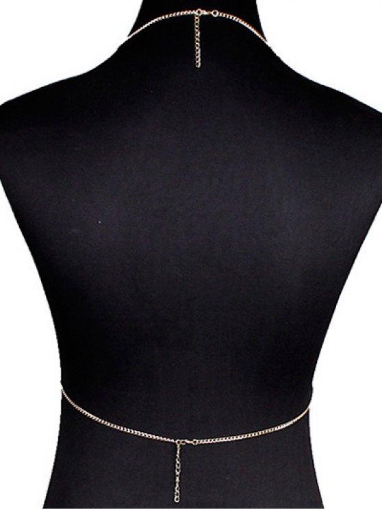 Triangle Bra Body Chain - GOLDEN  Mobile