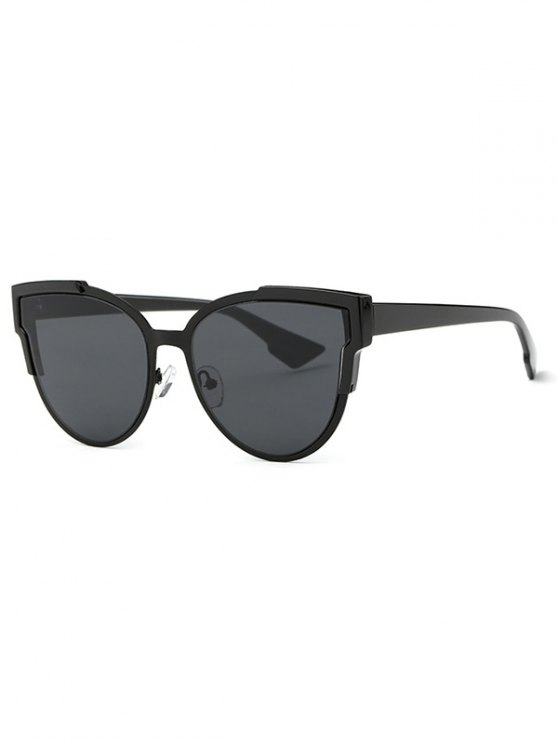 chic Trendsetter Print Cat Eye Sunglasses - BLACK GREY