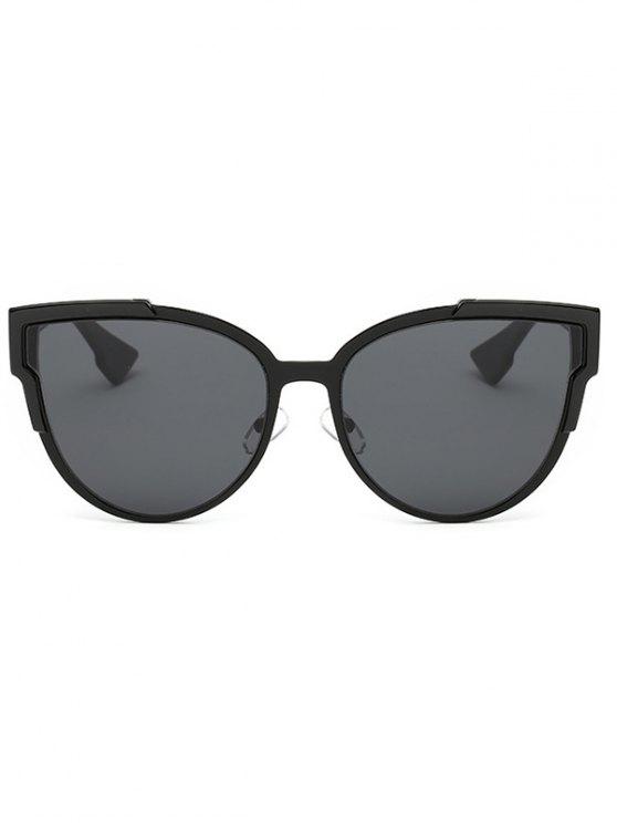 Trendsetter Print Cat Eye Sunglasses - BLACK GREY  Mobile