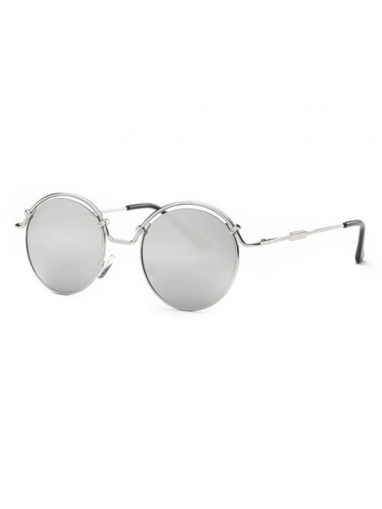 shop Wire Frame Mirrored Sunglasses - SILVER