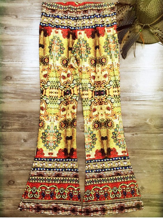 Vintage Print de Bell Bottoms - Multicolore S