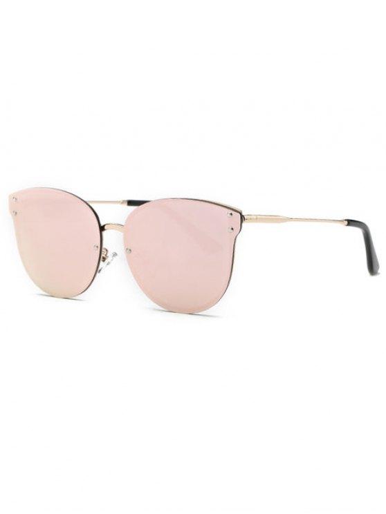 Pink gafas de sol de espejo sin marco - Rosa