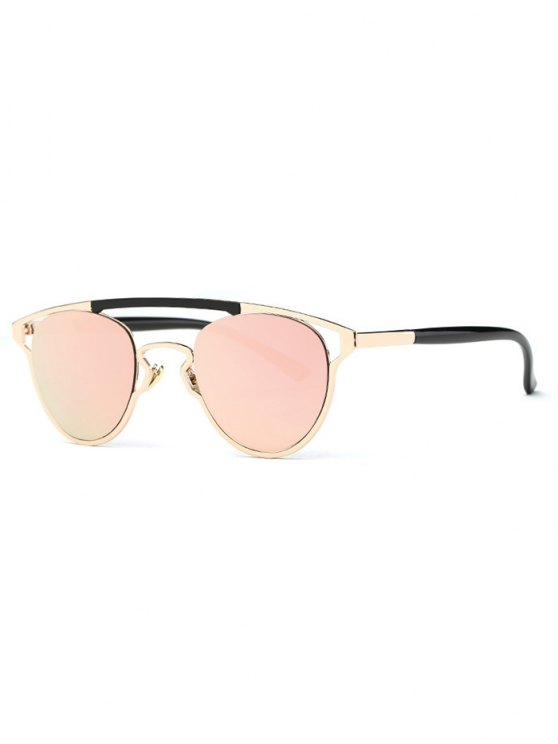 hot Retro Pink Crossbar Mirrored Sunglasses - PINK