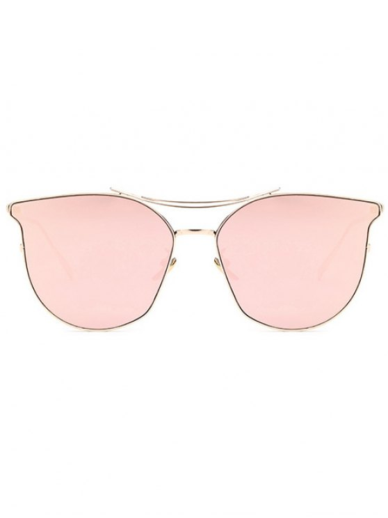 Pilot Cat Eye Mirrored Sunglasses - ROSE GOLD  Mobile